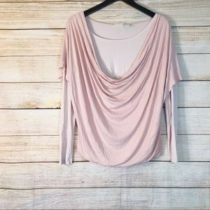 Chico's pink double layer pink top Sz 1